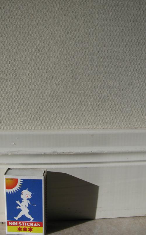 slät väv på vägg